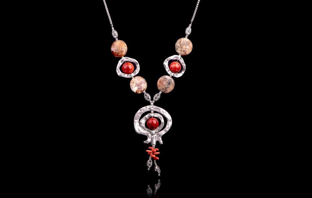 Agat de foc-Coral Rosu