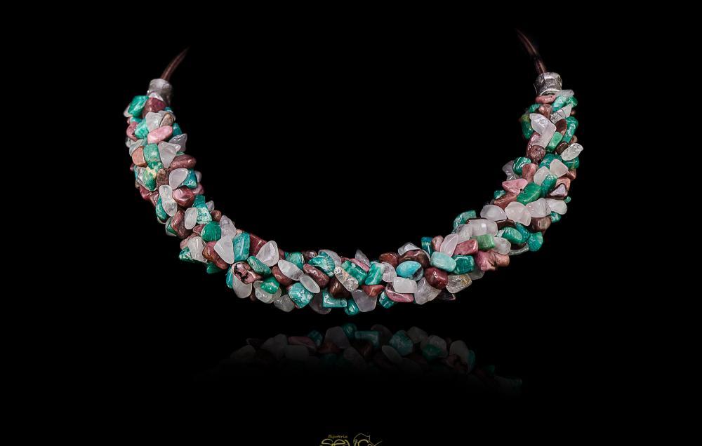 Amazonit de Peru - Rodonit - Cuart roz