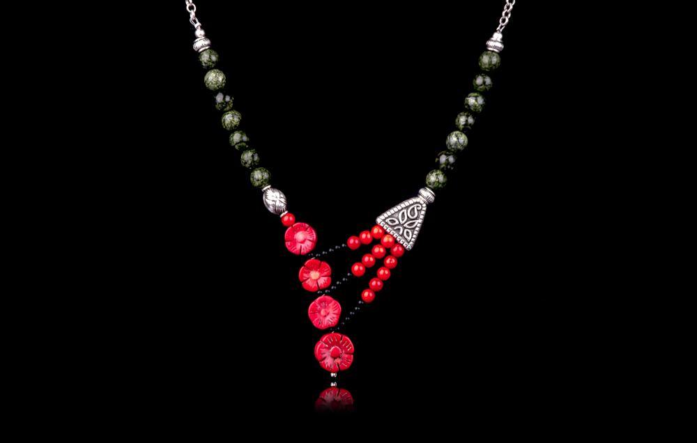 Coral rosu-Onix-Serpentin