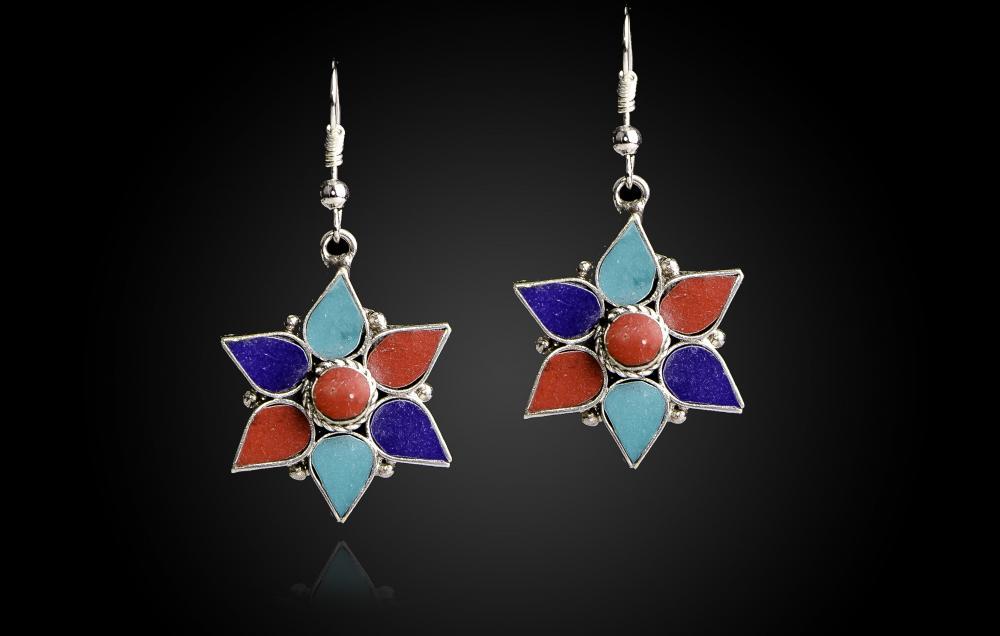 Turcoaz-Lapis Lazuli-Coral Rosu